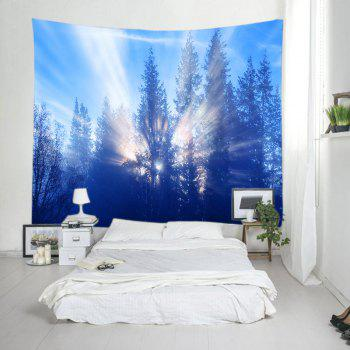 Sunlight Trees Print Tapestry Wall Hanging - W91 INCH * L71 INCH W91 INCH * L71 INCH