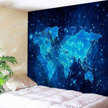 Galaxy World Map Print Tapestry Wall Hanging Decor