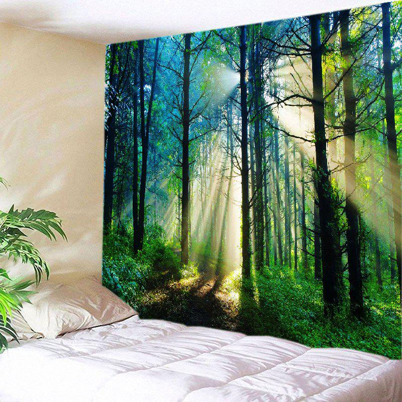 Forest Sunlight Pattern Tapestry Wall Hanging Art forest river unicorn print tapestry wall hanging art