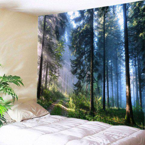 Forest Path Print Tapestry Wall Hanging - GREEN W59 INCH * L51 INCH