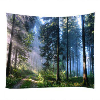 Forest Path Print Tapestry Wall Hanging - GREEN W91 INCH * L71 INCH