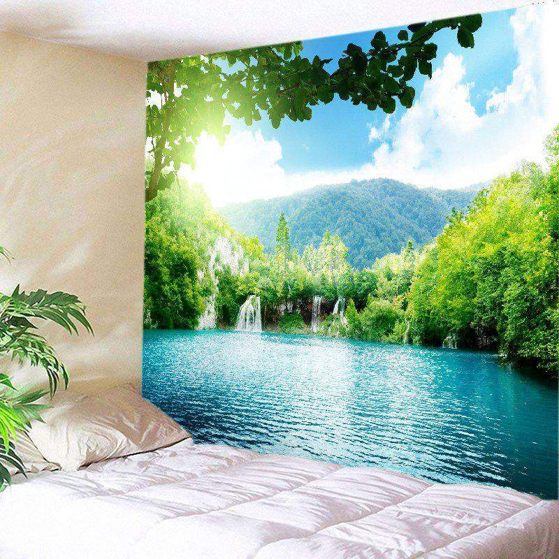 Moutain Falls Lake Print Tapestry Wall Hanging Art brightness falls