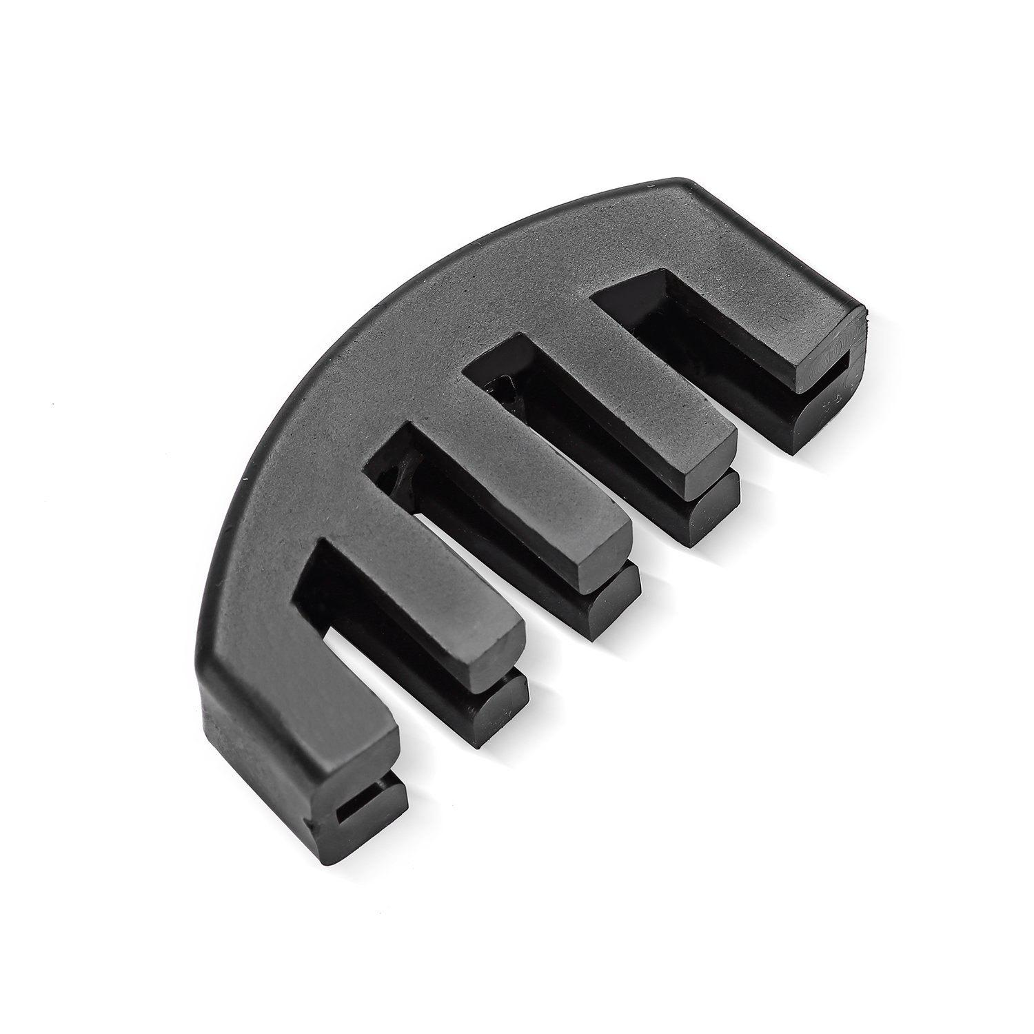 Rubber Mute with 5 Prongs for 4/4 and 3/4 Violin - BLACK