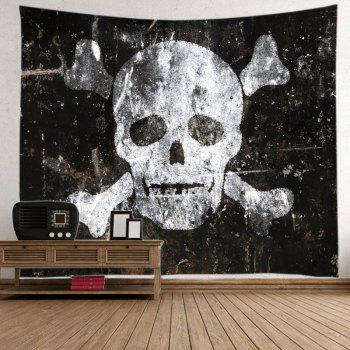 Skull Old Wall Print Tapestry Wall Hanging Art - W79 INCH * L71 INCH W79 INCH * L71 INCH