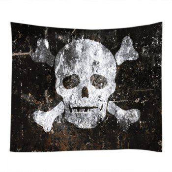 Skull Old Wall Print Tapestry Wall Hanging Art - W91 INCH * L71 INCH W91 INCH * L71 INCH