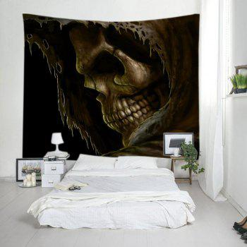 Cloak Skull Print Tapestry Wall Hanging Art - DEEP BROWN DEEP BROWN
