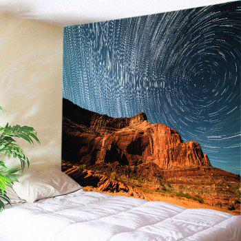 Mountain Meteor Shower Print Tapestry Wall Hanging Art