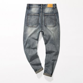 Fade Regular Fit Tapered Jeans - GRAY GRAY