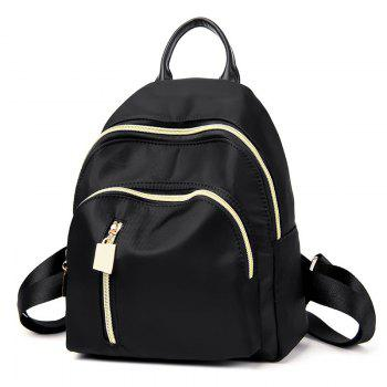 Stitching Nylon Top Handle Backpack