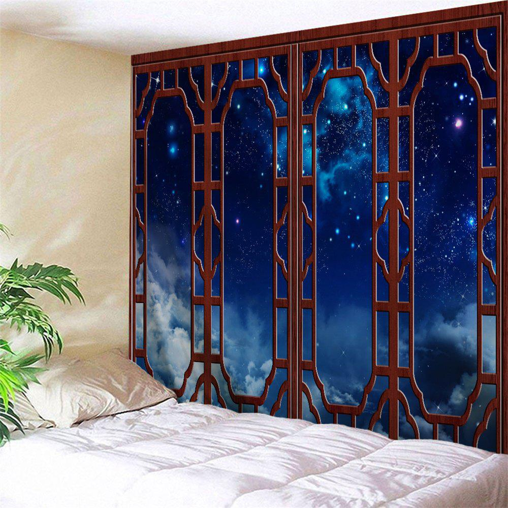 Window Starry Sky Print Tapestry Wall Hanging Art wall hanging art decor colorful starry print tapestry