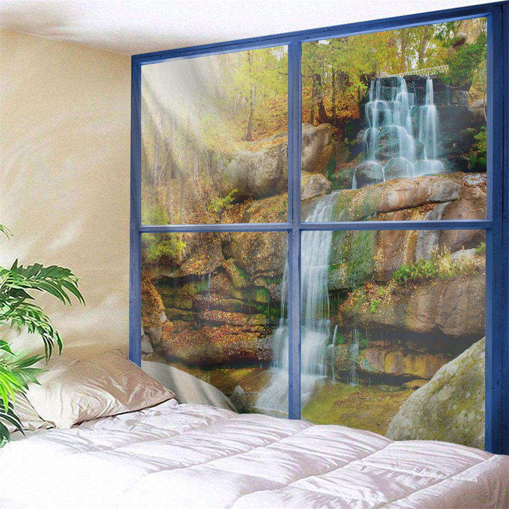 Window Forest Falls Print Tapestry Wall Hanging Art forest meadow print tapestry wall hanging art