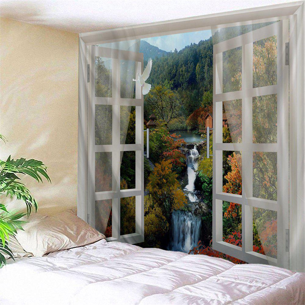 Window Mountains Falls Print Tapestry Wall Hanging Art wall hanging art decor mountains night print tapestry
