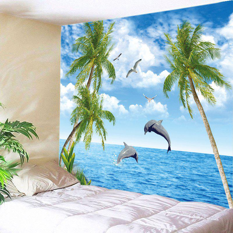 Trees Ocean Dolphin Print Tapestry Wall Hanging Art flame trees of thika