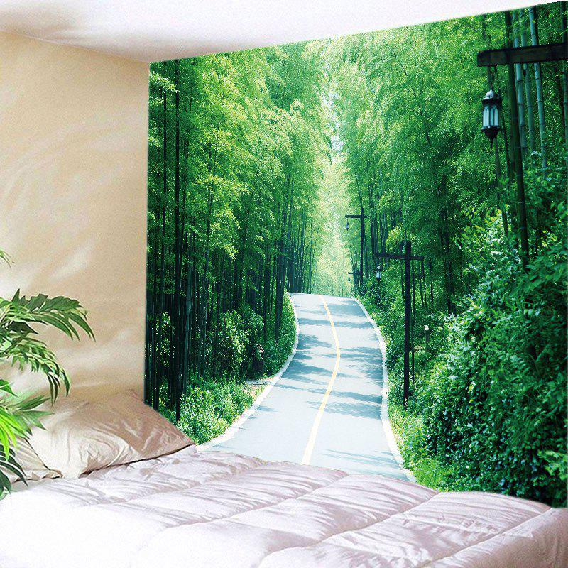Bamboo Forest Avenue Print Tapestry Wall Hanging Art wall hanging art trees avenue print tapestry