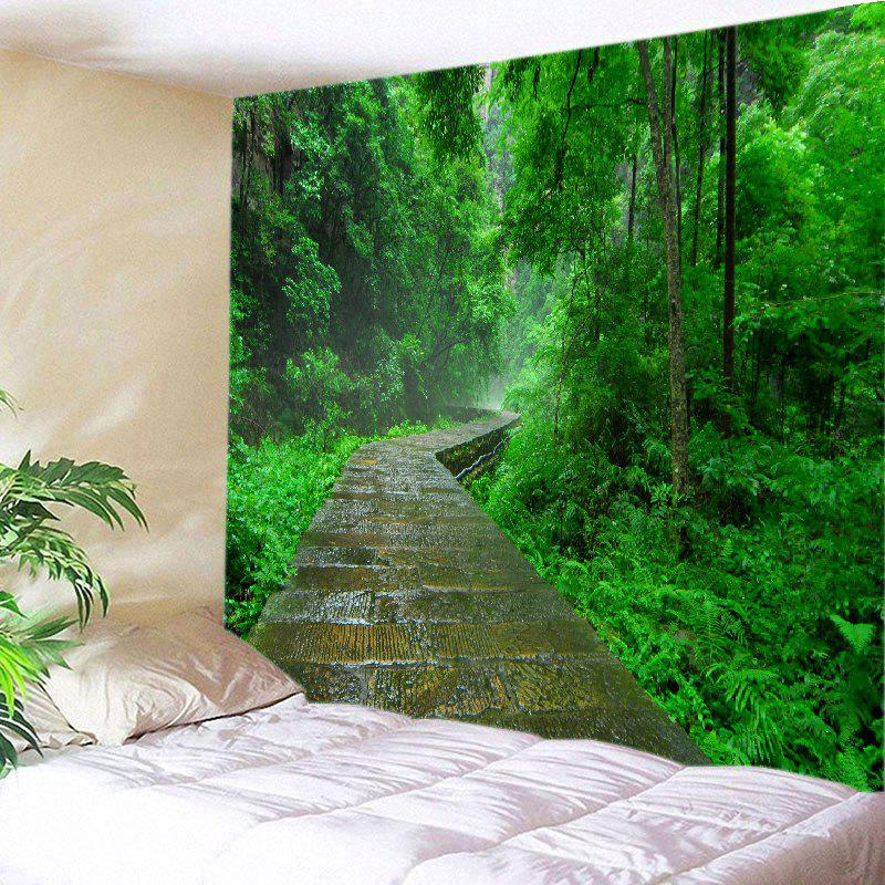 Forest Stone Path Print Tapestry Wall Hanging Art wall hanging forest path pattern tapestry