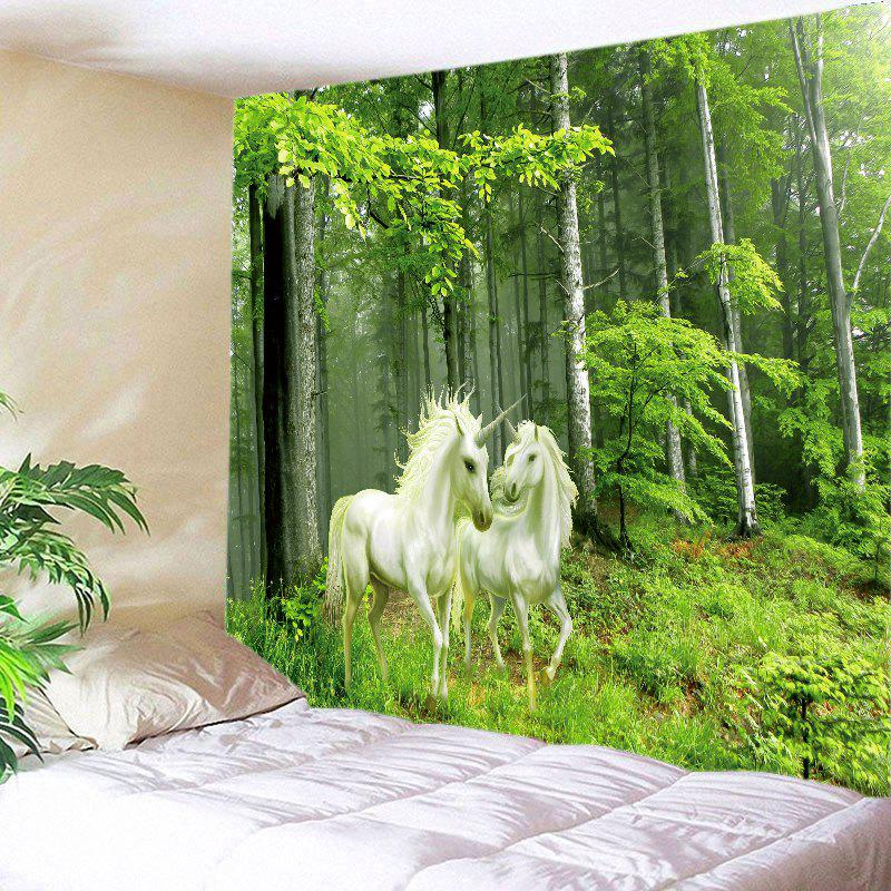 Forest Unicorns Print Tapestry Wall Hanging Art forest print wall hanging decorative tapestry