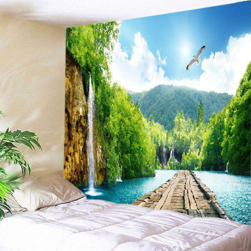 Mountains River Bridge Print Tapestry Wall Hanging Art 100%natural crystal rose quartz reiking healing wand pleasure wand body massage wand