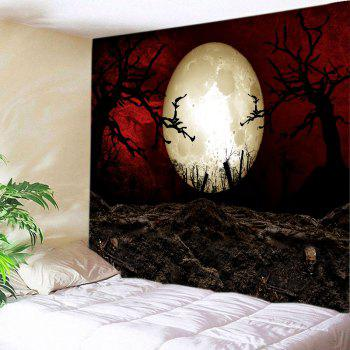 Halloween Moon Night Print Tapestry Wall Hanging Art