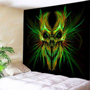Halloween Skull Print Tapestry Wall Hanging Art