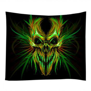 Halloween Skull Print Tapestry Wall Hanging Art - COLORMIX W79 INCH * L71 INCH
