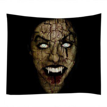 Halloween Vimpire Print Tapestry Wall Hanging Art - BLACK W91 INCH * L71 INCH