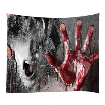 Scary Bloody Hand Print Tapestry Wall Hanging Art - COLORMIX W91 INCH * L71 INCH