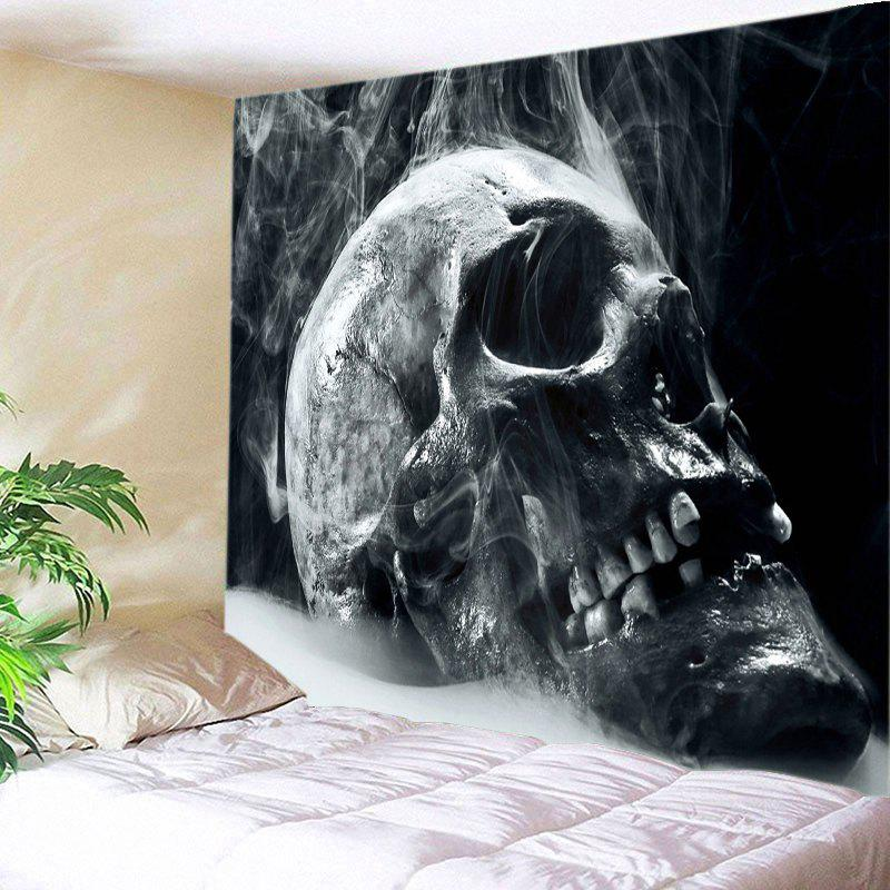 Skull Reeky Print Tapestry Wall Hanging Art usa flag skull print wall hanging tapestry