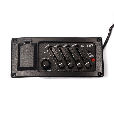 EQ 7545R Pick-up Equalizer System with 4 Bands for Guitar - BLACK