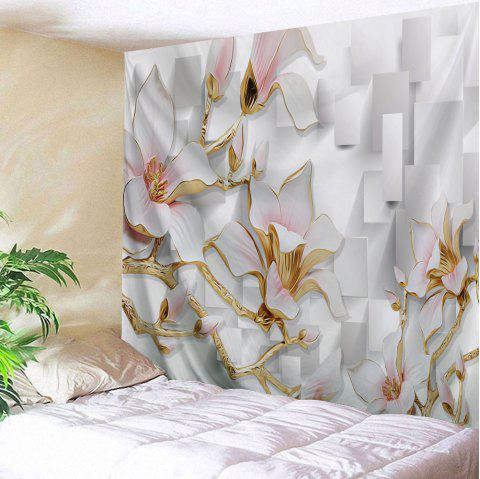 3D Flowers Print Tapestry Wall Hanging Art - COLORMIX W59 INCH * L51 INCH