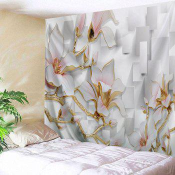 3D Flowers Print Tapestry Wall Hanging Art - COLORMIX COLORMIX