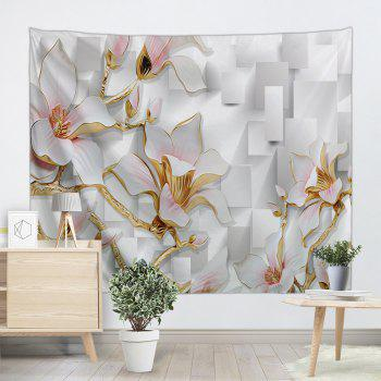 3D Flowers Print Tapestry Wall Hanging Art - COLORMIX W91 INCH * L71 INCH
