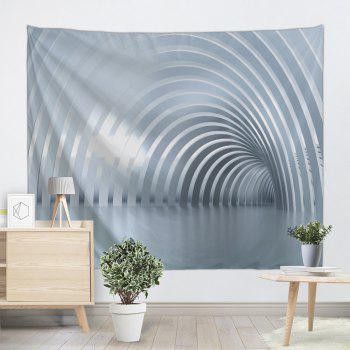 Curved Corridor Print Tapestry Wall Hanging Art - GRAY W59 INCH * L51 INCH