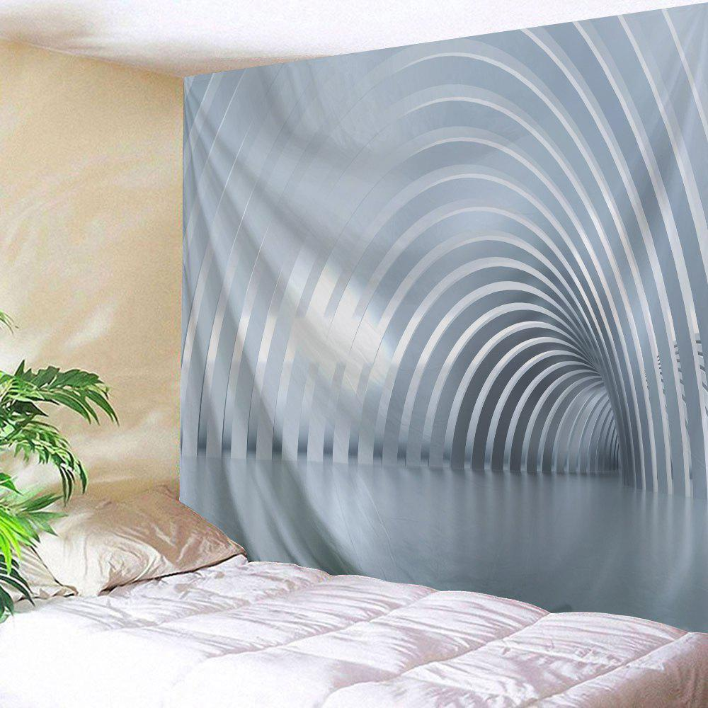 Curved Corridor Print Tapestry Wall Hanging Art - GRAY W79 INCH * L59 INCH