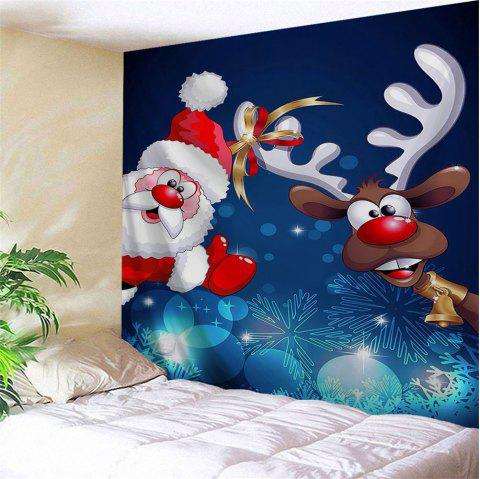 Reindeer Santa Claus Wall Decor Tapestry - BLUE W59 INCH * L59 INCH