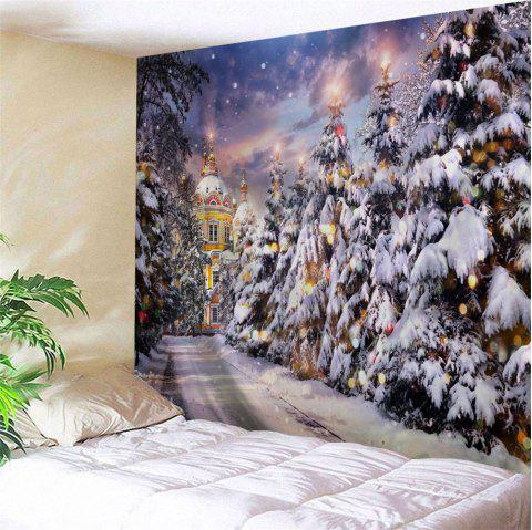 Christmas Pathway Print Tapestry Wall Hanging Art - COLORMIX W79 INCH * L71 INCH