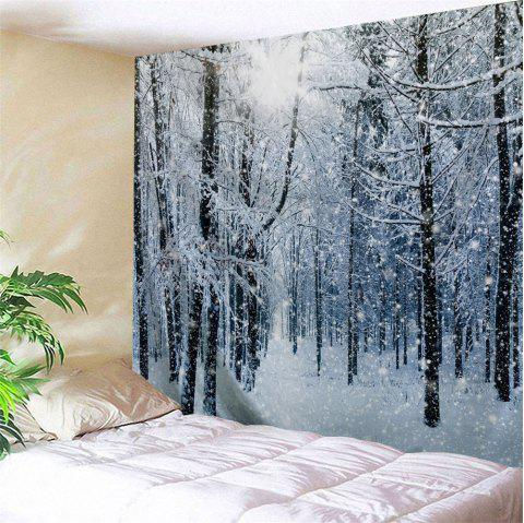 Limited Offer 2019 Snow Forest Print Tapestry Wall
