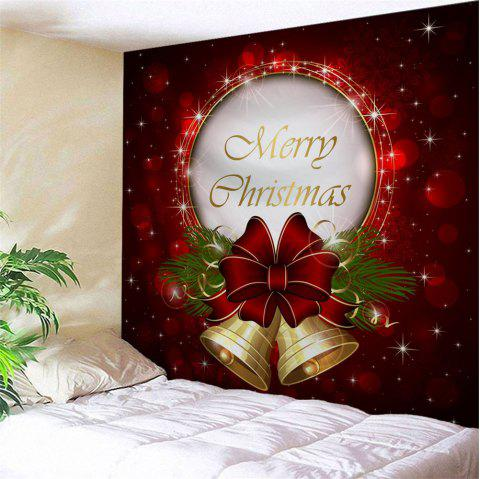 Christmas Bells Print Tapestry Wall Hanging Art - RED W59 INCH * L51 INCH