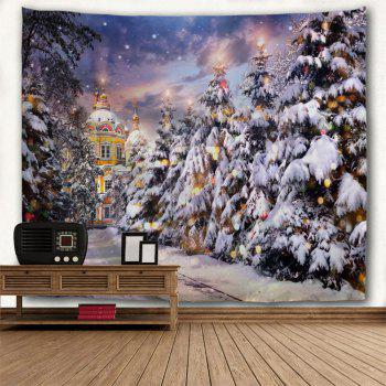 Christmas Pathway Print Tapestry Wall Hanging Art - COLORMIX W91 INCH * L71 INCH