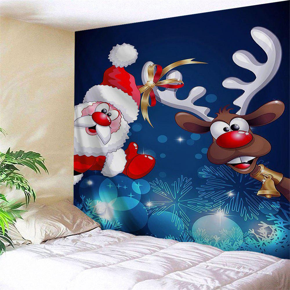 Reindeer Santa Claus Wall Decor Tapestry wall decor sending gifts santa claus patterned tapestry