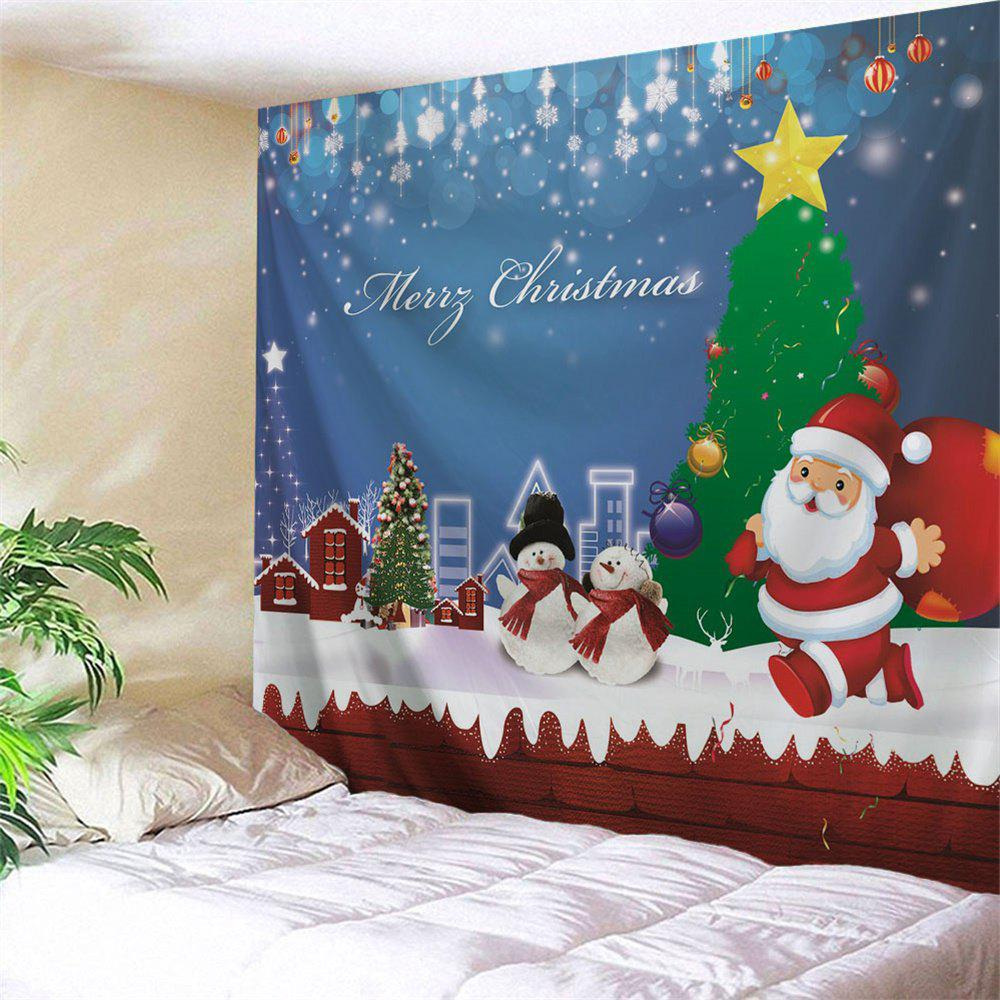 Wall Art Christmas Snowman Town Tapestry christmas tree snowman printed wall tapestry