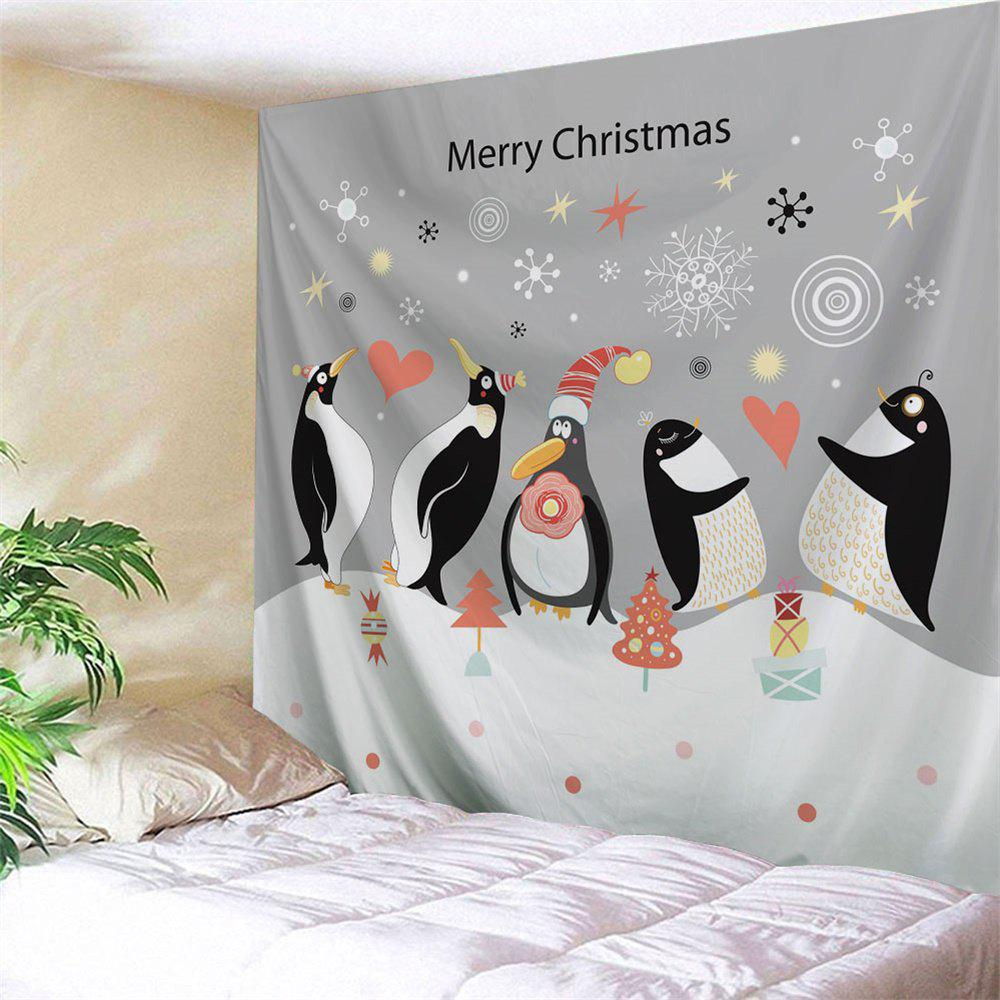 Merry Christmas Wall Hanging Penguin Tapestry waterproof merry christmas graphic pattern wall hanging tapestry