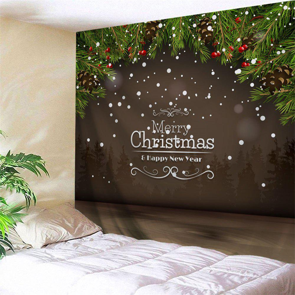 Merry Christmas Graphic Wall Hanging Tapestry merry christmas graphic asymmetric tee