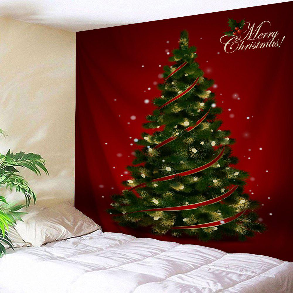 Christmas Tree Print Tapestry Wall Hanging Decor christmas tree print tapestry wall hanging decor