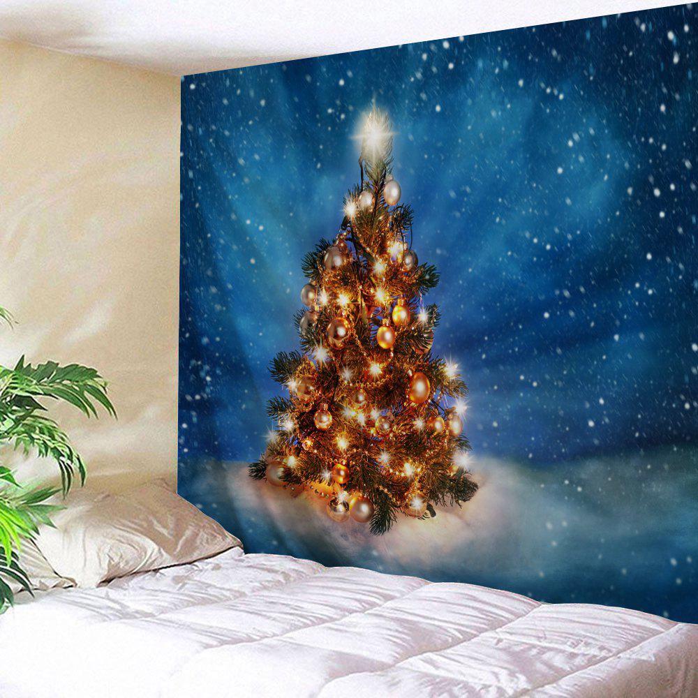 Christmas Tree Night Print Tapestry Wall Hanging Art wall hanging living room christmas tree print tapestry