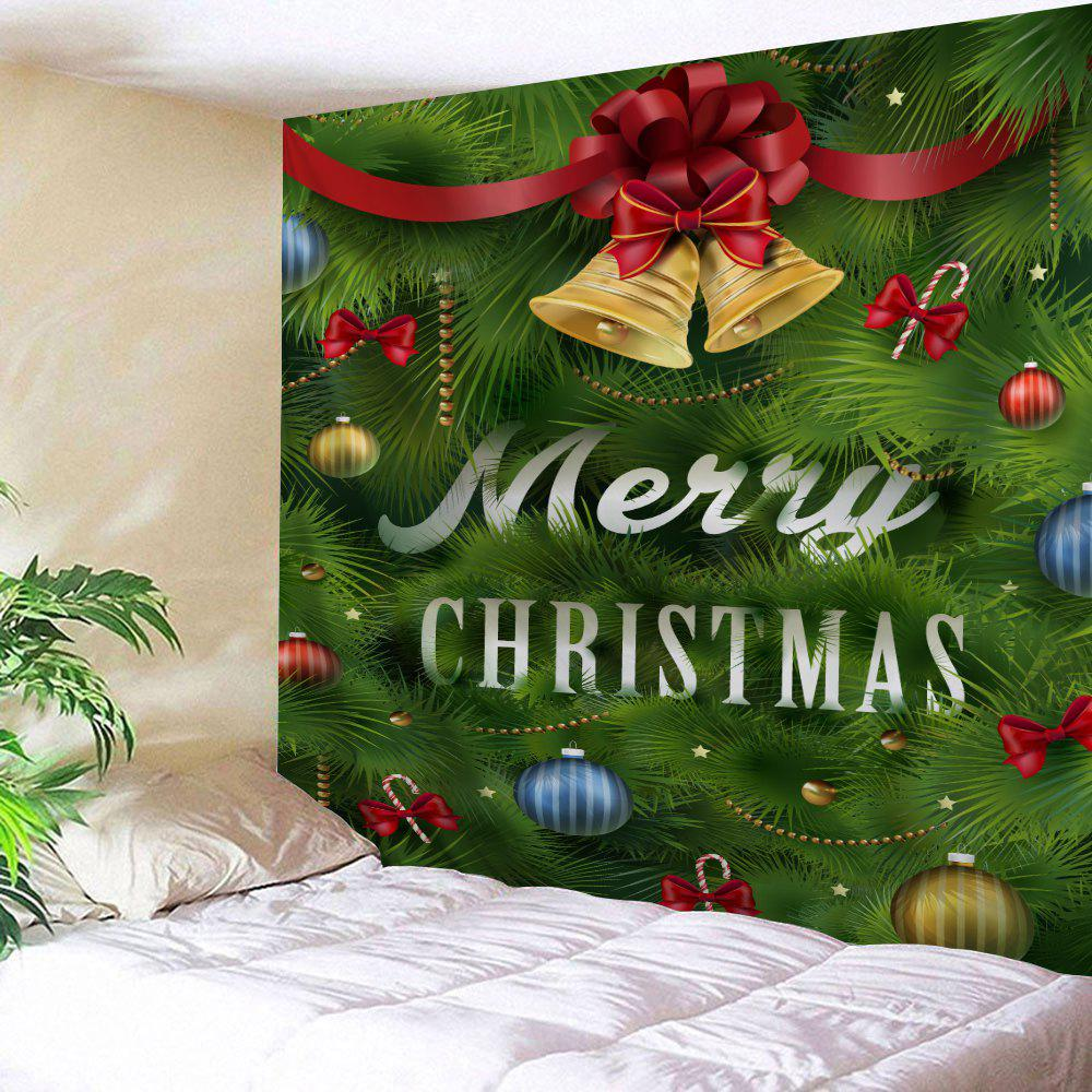 Christmas Bell Leaf Pattern Wall Tapestry цена 2017