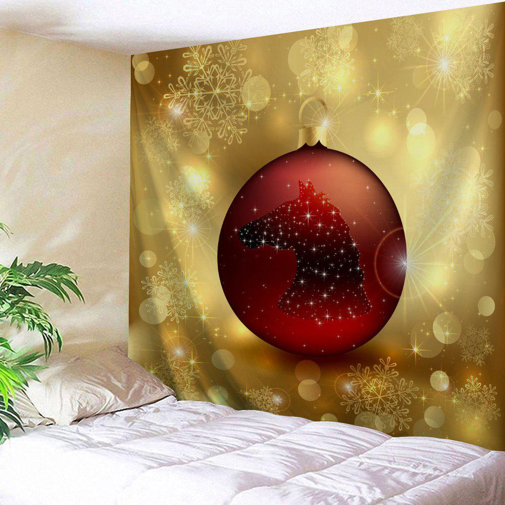 2018 Wall Tapestry with Christmas Ball Print YELLOW W INCH L INCH In ...