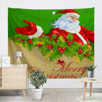 Santa Claus Wall Hanging Merry Christmas Tapestry - W91 INCH * L71 INCH W91 INCH * L71 INCH