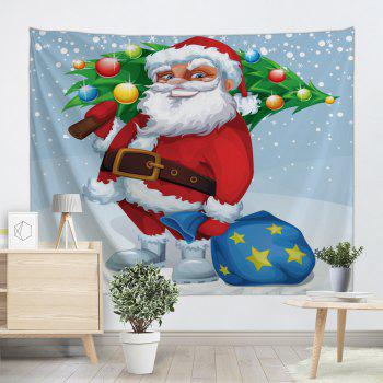 Christmas Tree Wall Decor Santa Claus Tapestry - CLOUDY CLOUDY