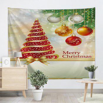 Christmas Tree Ball Pattern Wall Tapestry - W91 INCH * L71 INCH W91 INCH * L71 INCH
