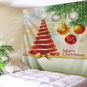 Christmas Tree Ball Pattern Wall Tapestry - COLORMIX W91 INCH * L71 INCH